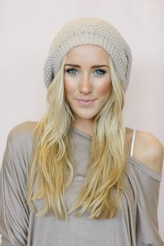 slouchy knitted beanie by Three Bird Nest | Women's Boho Clothing Boutique