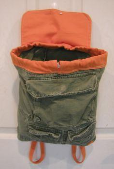 Little Boys Backpack Tote Bag by SiennaParkway on Etsy Vintage Backpacks, Boys Backpacks, Handmade Gifts For Men, Handmade Bags, Tote Backpack, Tote Bag, My Bags, Purses And Bags, Festival Bags