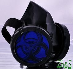 Black Cyber Mask Cyber Goth Respirator Gas Mask  by olnat31sun, $17.99