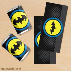 FREE Printable Batman Mini Candy Bar Wrappers