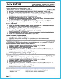 executive assistant sample resume executive assistant resume is made for those professional who are interested in applying job related to secretary field