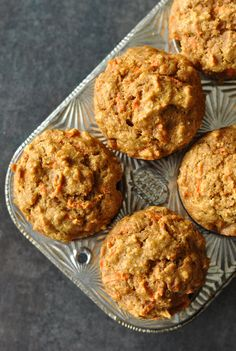 These carrot butternut whole grain muffins are naturally sweetened + loaded with freshly grated carrots + pureed butternut squash and are perfect for kids!