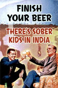 Finish your beer... #vintage #poster