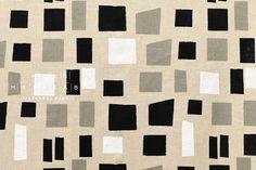 Japanese Fabric Blocks  black grey white  50cm от MissMatatabi
