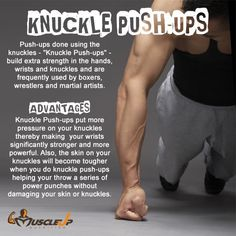 Advantages of knuckle push-ups. http://www.facebook.com/MuscleUP.Nutrition