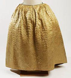 18th century silk petticoat - American/European    MET C.I.46.82.3