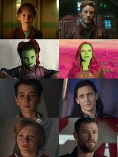 Peter Quill•Gamora•Loki•Thor