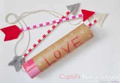 Cupid's Bow and Arrow craft. Perfect for a Valentine's Day party! / delineate your dwelling
