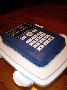 Button cake for the button boy; cell phone cake