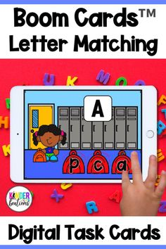 Engage your students and practice alphabet letter matching with these school themed digital task cards (includes 8 decks)! Boom Cards™ are interactive, self-checking digital task cards that make learning fun! Perfect for kindergarten and preschool students.
