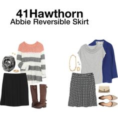 "Dear Stylist: This ""Abbie Reversible Skirt"" is AMAZING because it's reversible and cute on both sides! Such a useful, practical piece to add to my wardrobe. Reversible Skirt, Pant Hangers, Black White Pattern, Ikat Print, Professional Attire, Stitch Fix Stylist, Cute Pattern, Geek Chic, Grey Sweater"