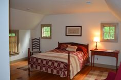 Second floor guest room.  Beautiful hardwood floors and enough space to make it comfortable.