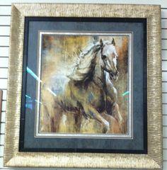 Custom framed horse picture