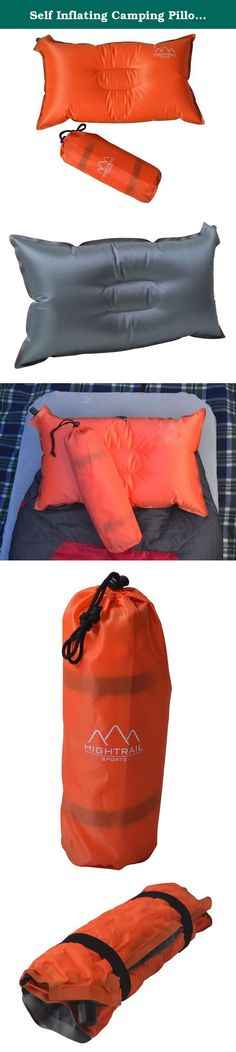 Self Inflating Camping Pillow/Travel Pillow - Essential Outdoor Sports Accessory For Hiking/Backpacking/ Picnics - Great Lumbar/Neck Support - Lightweight/Compressible - Take Comfort Wherever You Go. Super Soft Super Compact Camping and Travel Pillow Top