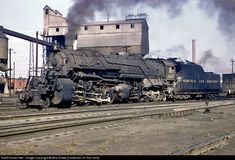 RailPictures.Net Photo: NW 2045 Norfolk & Western Steam 2-8-8-2 at Roanoke, Virginia by Bob Drake [Collection of Tom Sink]
