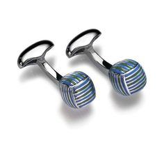 Monkey Knot cufflinks by Babette Wasserman. Give a splash of colour to your sleeve.
