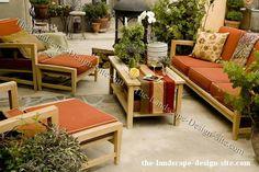 Outdoor Room With Teak Furniture