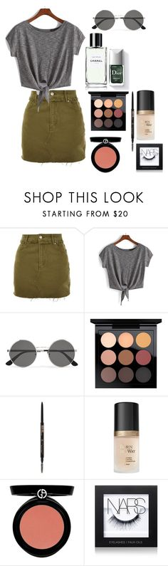 """Sem título #195"" by mariafashionny ❤ liked on Polyvore featuring Topshop, Yves Saint Laurent, Couture Colour, MAC Cosmetics, Anastasia Beverly Hills, Giorgio Armani and NARS Cosmetics"