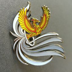 Your place to buy and sell all things handmade Phoenix Rising, Pin And Patches, Hat Pins, Symbols, Bird, Drawings, Hats, Collection, Color