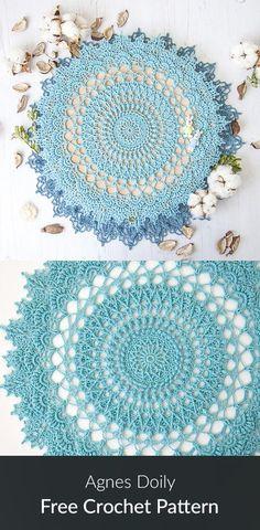 Agnes Doily Free Crochet Pattern #crochet #crafts #homedecor #handmade #homemade #style #ideas