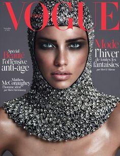 Adriana Lima - Vogue Magazine Cover [France] (November 2014)