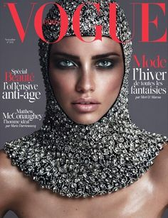 Vogue Paris November 2014 | Adriana Lima | Mert Alas & Marcus Piggott