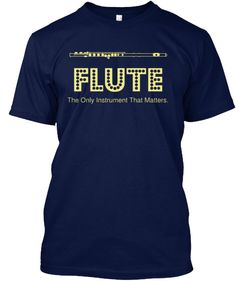 Show your FLUTE pride with this expressive t-shirt! Great for middle school/high school/college bands! ***Each item is printed on super soft premium material! 100% Designed, Shipped, and Printed in th