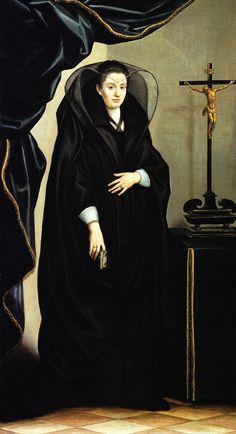 Portrait of a lady in a mourning dress, Jacopo Chimenti da Empoli, ca.1610
