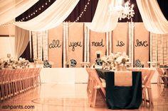 Ashpants: A rustic & chic wedding reception