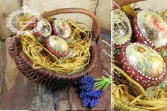 Wielkanocne,rustykalne jajka w koszyczku Straw Bag, Decoupage, Easter, Bags, Handbags, Easter Activities, Bag, Totes, Hand Bags