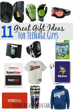 Great gift ideas for all the teenage boys on your shopping list! Give them something they'll actually appreciate. | Gift Ideas for Teenage Boys