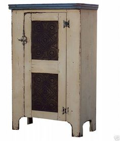 Primitive pie safe cupboard painted country by JosephSpinaleFurn, $495.00