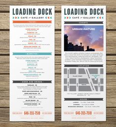 Loading Dock Menu Design