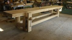 Bo Childs' 16' French Oak Roubo Bench, built in the 2013 French Oak Roubo Project NICE !