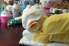 Sleeping Baby Diaper Cake by BabyBinkz on Etsy