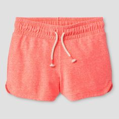 Girls' Knit Pull On Shorts Cat & Jack Sunrise Coral XS, Girl's