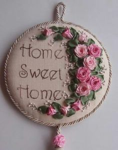 Wonderful Ribbon Embroidery Flowers by Hand Ideas. Enchanting Ribbon Embroidery Flowers by Hand Ideas. Ribbon Embroidery Tutorial, Hand Embroidery Stitches, Silk Ribbon Embroidery, Hand Embroidery Designs, Cross Stitch Embroidery, Embroidery Patterns, Ribbon Art, Flower Crafts, Fabric Flowers