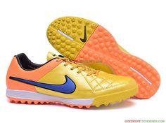 separation shoes 2a183 a67fe Bestellen Nike Tiempo Legend V TF – Geel Oranje Koningsblauw Wit Zwart