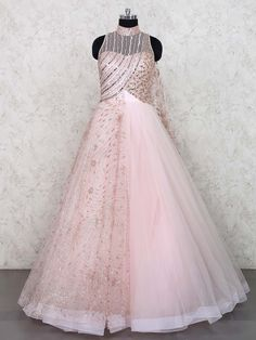 Our Ideals are ever-evolving, Yet are feet are firmly planted in India's rich and glorious heritage. Also, worldwide shipping is available. Indian Wedding Gowns, Indian Gowns Dresses, Pink Gowns, Bridal Gowns, Long Dresses, Wedding Dress, Lehnga Dress, Bridal Lehenga Choli, Pink Lehenga