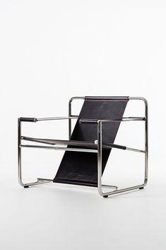 Eero Aarnio; Stainless Steel and Leather 'Graphic' Chair, 2011. #eeroaarnio