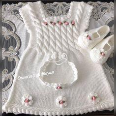 💐Büyük günahlar şunlardır :Allah'a ortak koşmak, ana babaya itaatsizlik etmek, haksız yere adam öldürmek ve yalan yere yemin etmek...💐… Diy Crafts Dress, Diy Crafts Crochet, Girls Knitted Dress, Knitting Supplies, Crochet Baby Clothes, Baby Vest, Vest Pattern, Quilt Sets, Baby Sweaters