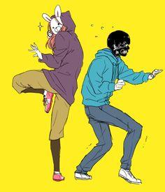 They're so silly lookin training together. Kirishima touka & Kaneki ken | tokyo ghoul