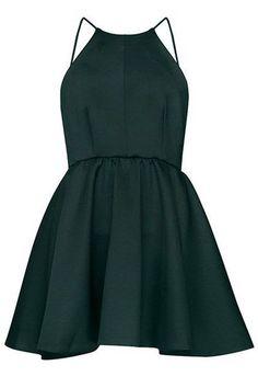 Stunning Homecoming Dress,Sexy Spaghetti Strap Cocktail Dress,Empire Green Homecoming Dress For Teens