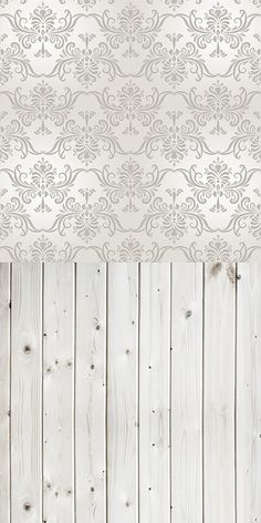Grey Damask With Grey Wood Backdrop