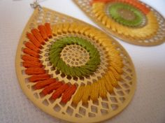 laser cut and embroidered... lovely... for sale on etsy