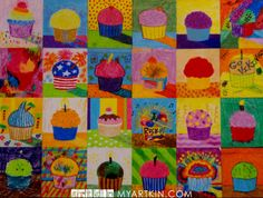 Cupcakes Multi-image Group Art Canvas, by the McKinneys