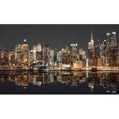 Poster: Assaf Frank - NYC Skyline at Night zum Verkauf online. Bestellen Sie Ihre Poster, Ihre 3D Film-Poster oder ähnliches interessantes Deco Block 118x70