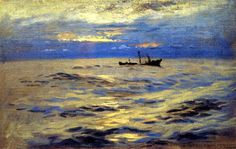 The Derelict John Singer Sargent - circa Oh, the light in this painting! Seascape Paintings, Landscape Paintings, Oil Paintings, John Singer Sargent Watercolors, Sargent Art, Kunsthistorisches Museum, Munier, Museum Of Fine Arts, Renoir