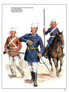 Lucknow & Cawnpore,Nov.1857-March 1858: 1:Pte.,HM 53rd Rgt.2:Pte.,HM 9th Lancers.3:Officer,Royal Navy.
