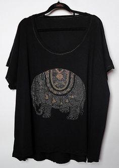 Blusa Plus Size Elefante